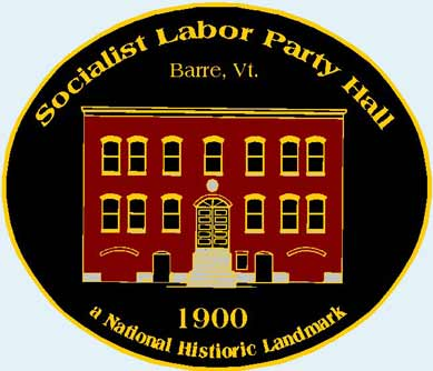 Lapel pin badge of the Socialist Labor Party Hall