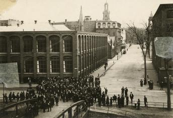Lawrence mill during the strike.