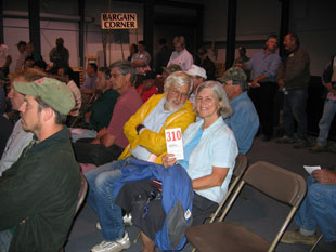 Chet and Karen at the auction of the bakery