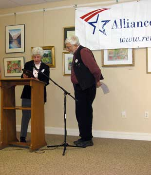 Chet receiving award from the Vermont Alliance for Retired Americans