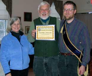 Chet & Karen receiving Grange award