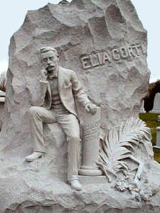Elia Corti's monument in Hope Cemetery, Barre
