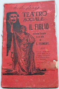 cover of a script for a play