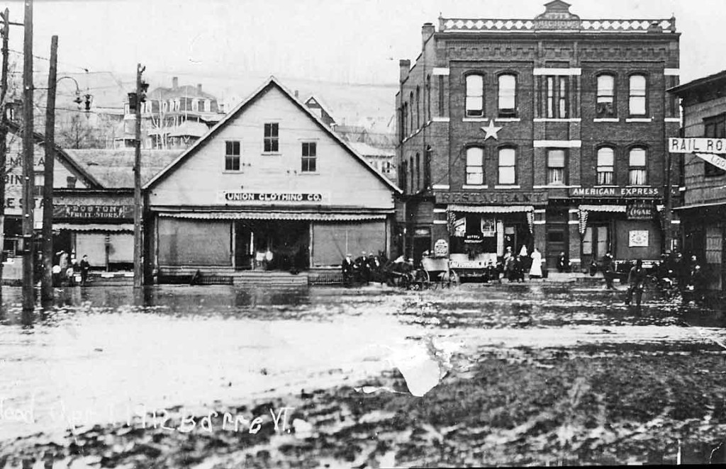 Barre Main Steet in the 1912 flood