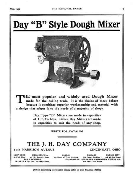 Ad for dough mixer