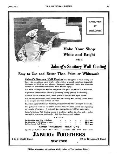 Ad for bakery sanitary wall coating