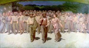 """""""Quarto Stato"""" painting by Giuseppe Pellizza da Volpedo"""