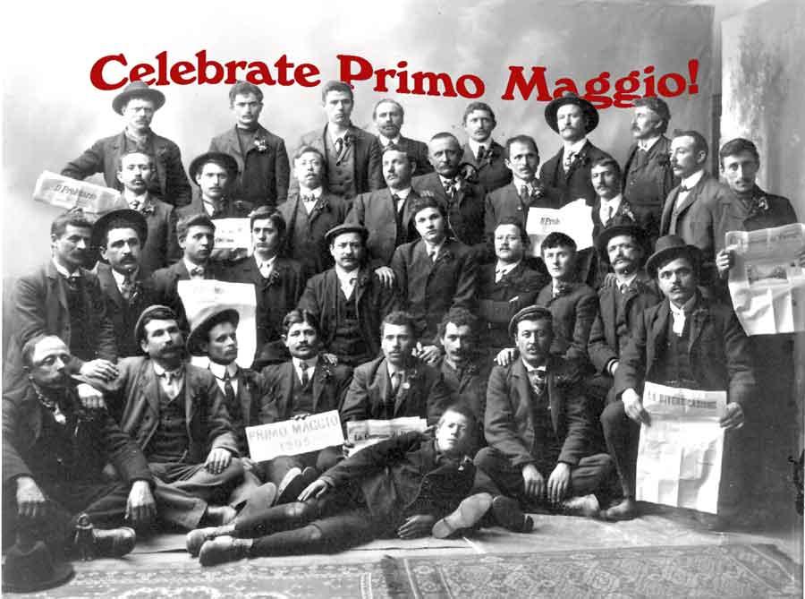 Supporters of the Socialist Labor Party Hall celebrating Primo Maggio in 1905