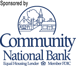 Sponsored by Community National Bank (logo)