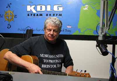 Si Kahn singing to protect Bristol Bay, Alaska, from strip mining