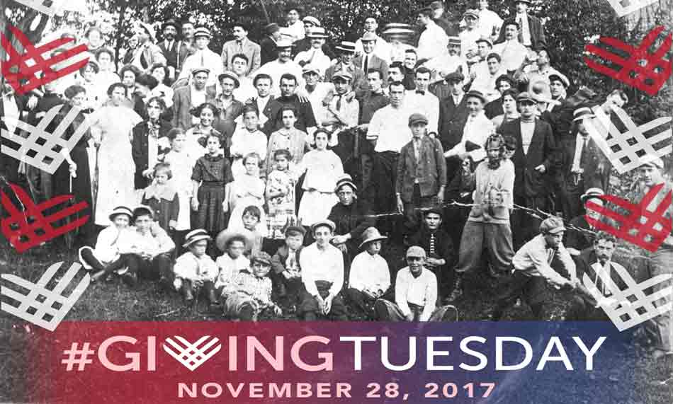Italian Pleasure Club with Giving Tuesday logo overlay