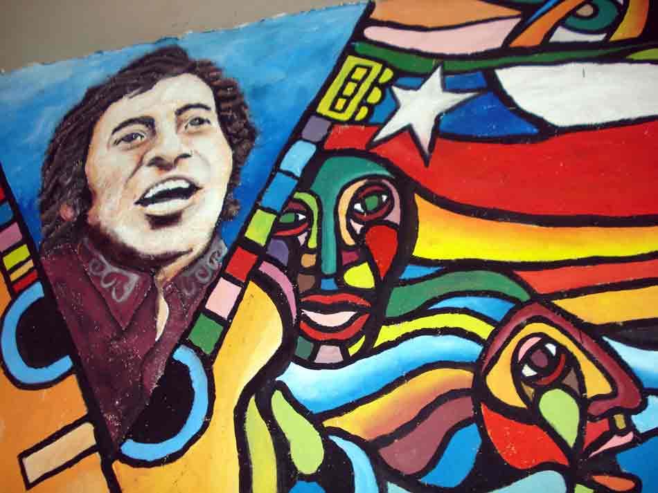 Victor Jara mural in Santiago, Chile - Wikimedia