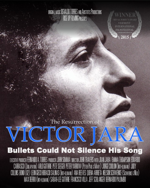 "Poster for the film ""The Resurrection of Victor Jara"""