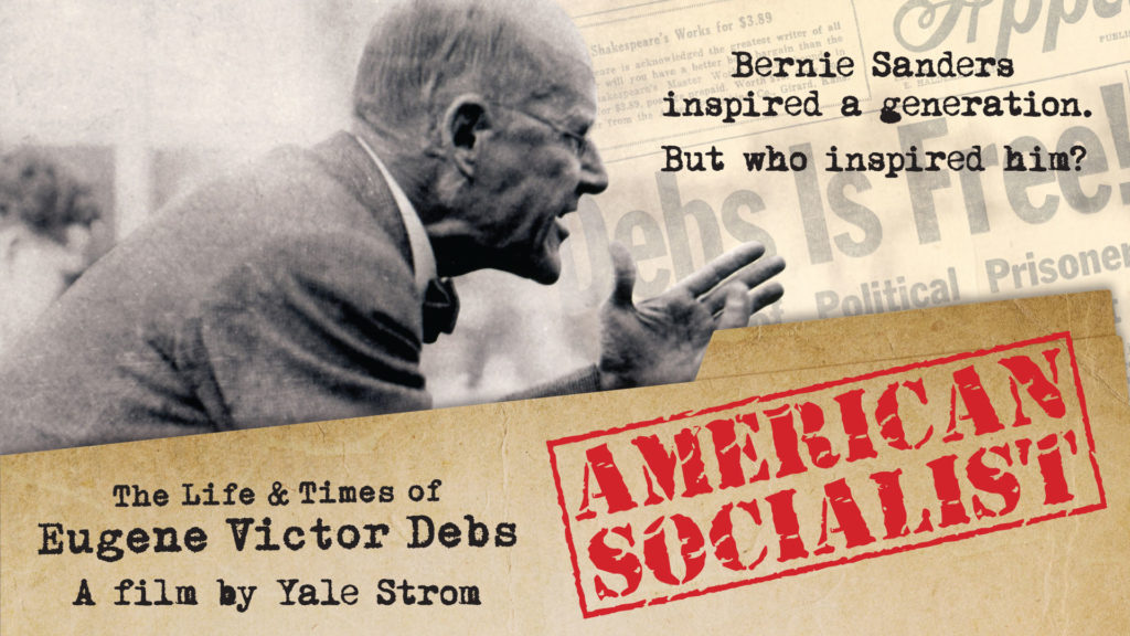 Poster for American Socialist with Eugene Debs speaking