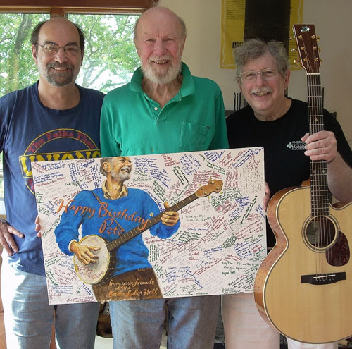 Pete Seeger with Mark Greenberg and Ben Koenig