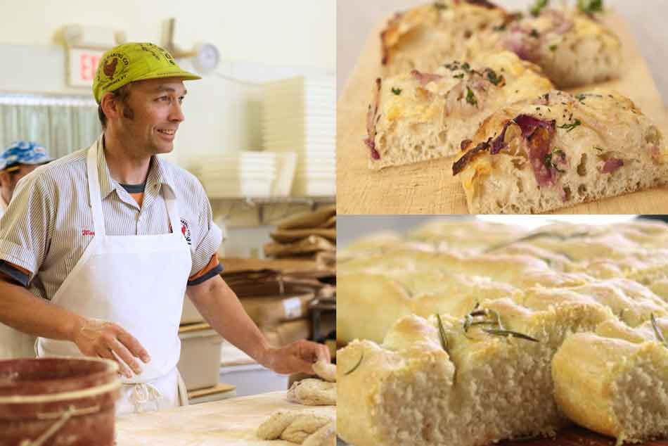 Randy George and focaccia