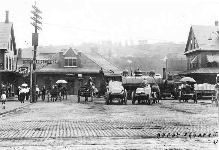 Depot Square after 1905