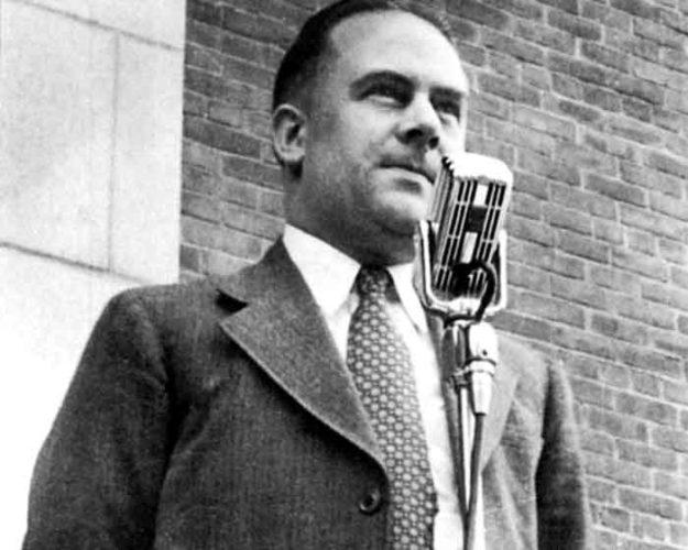 Mayor Edwin Heininger at dedication of the Auditorium