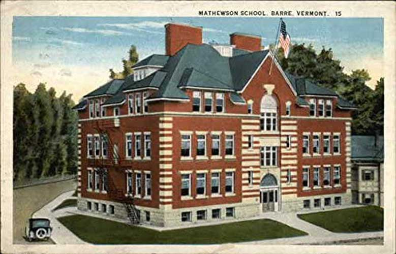 Postcard of Mathewson School