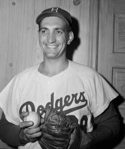 Ralph Branca, pitcher for the Brooklyn Dodgers