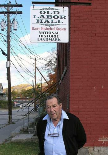 Tom Davis outside the Old Labor Hall