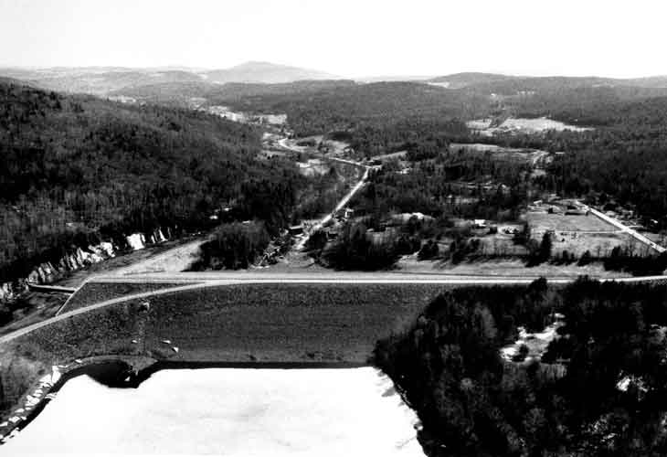 Aerial view of Wrightsville Dam