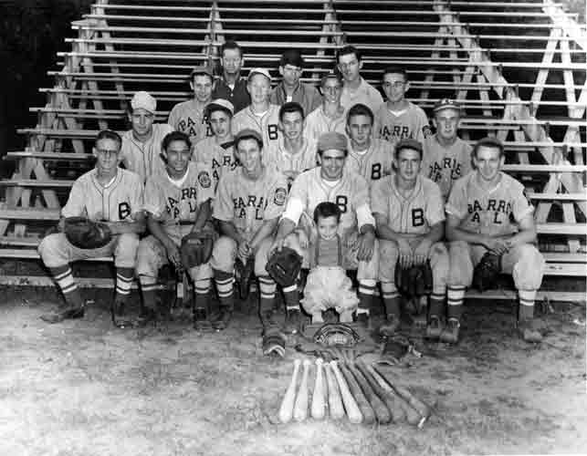 Barre American Legion Baseball Team 1948-9