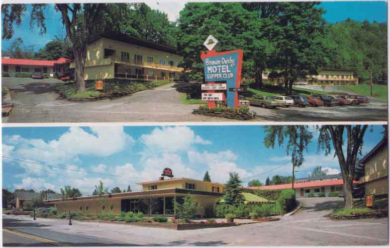 Postcard of Brown Derby Restaurant and Motel in Montpelier VT