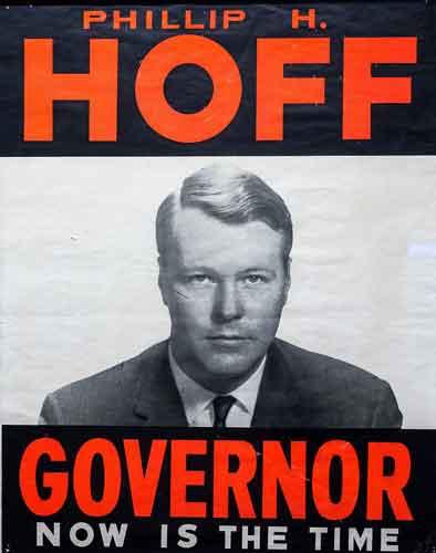 Phill Hoff's gubernatorial campaign Poster